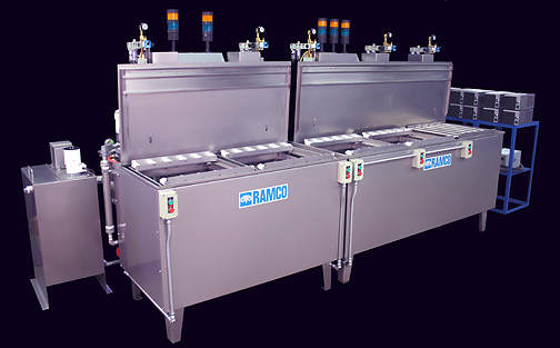 RAMCO-equipment-immersion-parts-washer-washing-citric passivation-line-ultrasonic-console